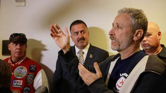 Jon Stewart tries to explain to Sen. Rob Portman why 9/11 responders don't buy any of his explanations.
