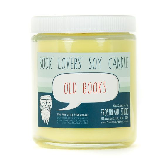 "Get the <a href=""https://www.etsy.com/listing/159184877/old-books-soy-candle-book-lovers-scented"">Old Books-Scented Candle</a"