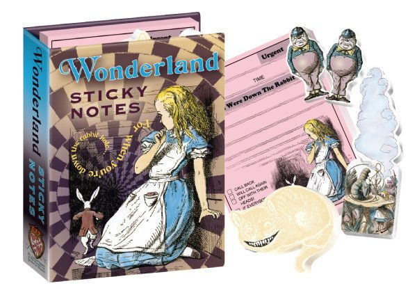 "Get the <a href=""http://www.philosophersguild.com/Writers-Cards-Set.html"">Wonderland Sticky Notes</a>."