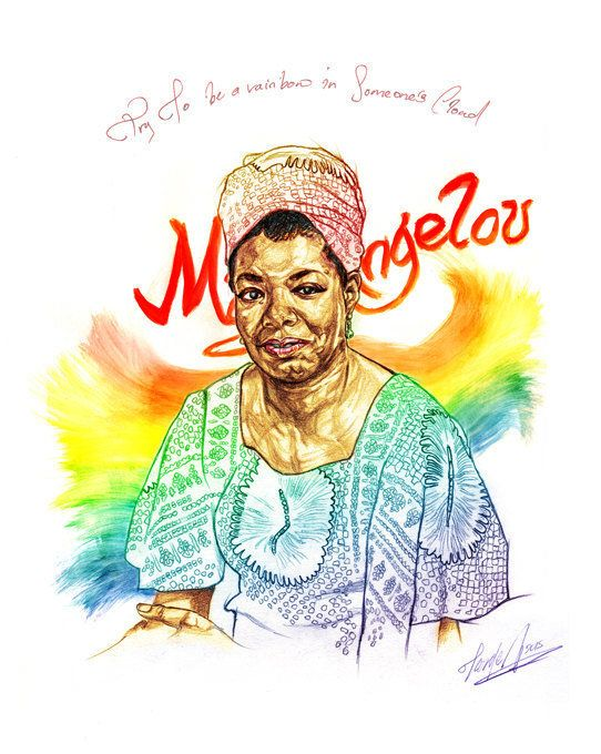 "Get the <a href=""https://www.etsy.com/listing/236932976/maya-angelous-rainbow"">Maya Angelou art print</a>."