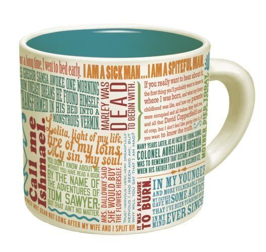 "Get the <a href=""http://www.philosophersguild.com/Great-Lines-of-Literature.html"">Famous First Lines In Literature mug</a>."