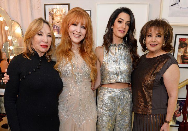 Patsy Tilbury, Charlotte Tilbury, Amal Clooney and mother Baria Alamuddin