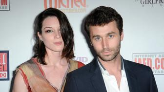 LOS ANGELES, CA - APRIL 16:  Adult film actress Stoya and Adult film actor James Deen attend The BIG Annual 30th XRCO Awards hosted by Ron Jeremy held at  OHM at Hollywood & Highland on April 16, 2014 in Hollywood, California.  (Photo by Albert L. Ortega/Getty Images)