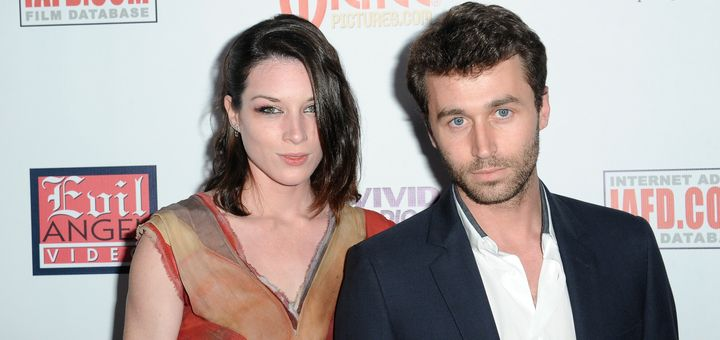 Stoya and James Deen at an awards show in 2014.