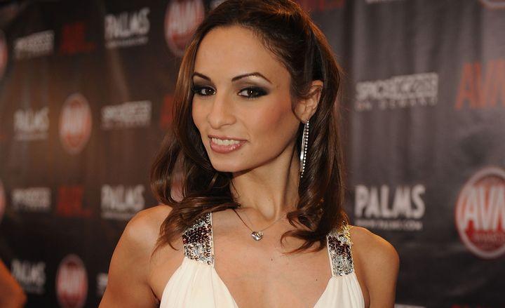 Amber Rayneat the AVN awards in 2010.