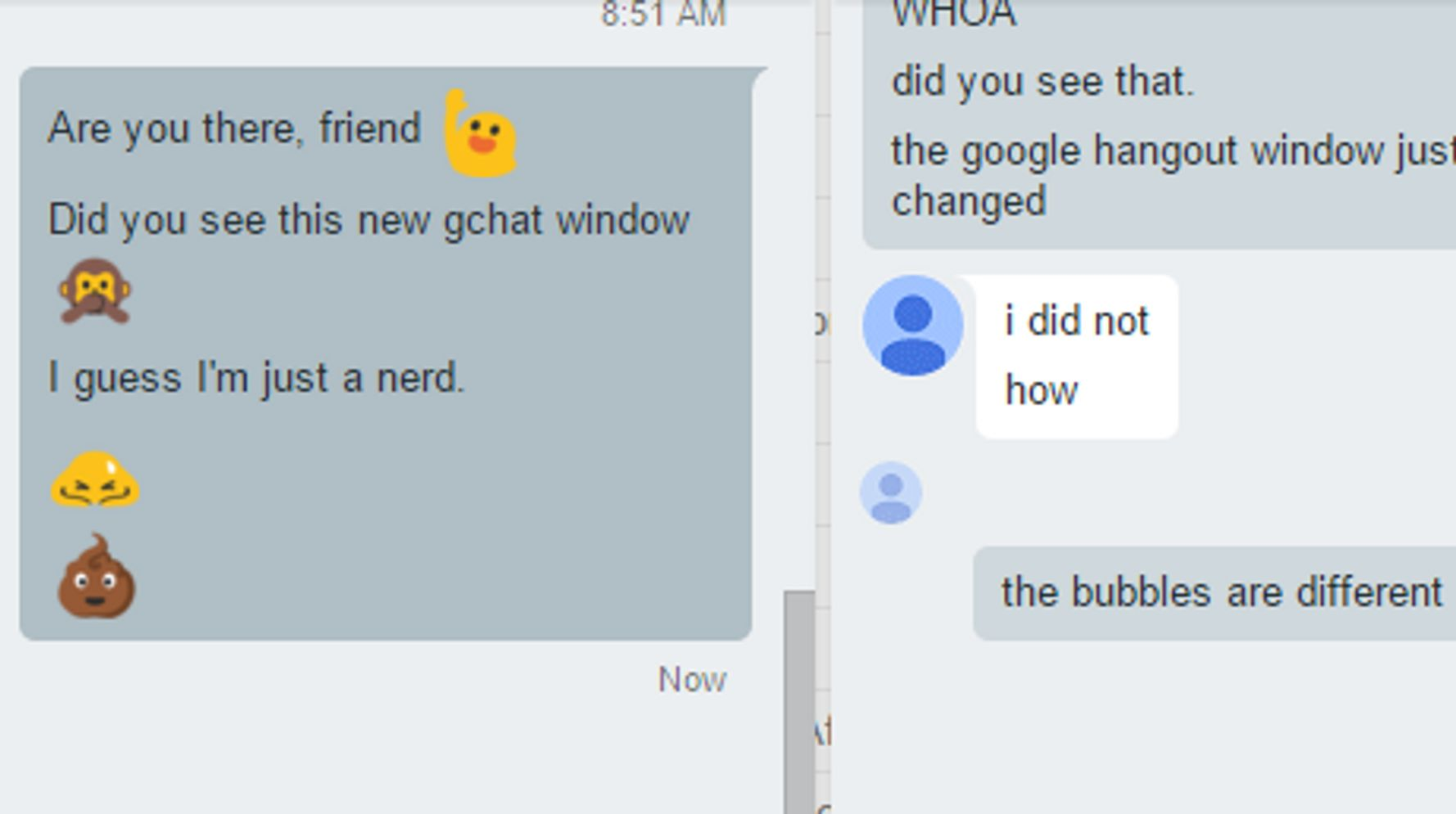 Your Google Hangout Bubbles Just Got A Major Update   HuffPost