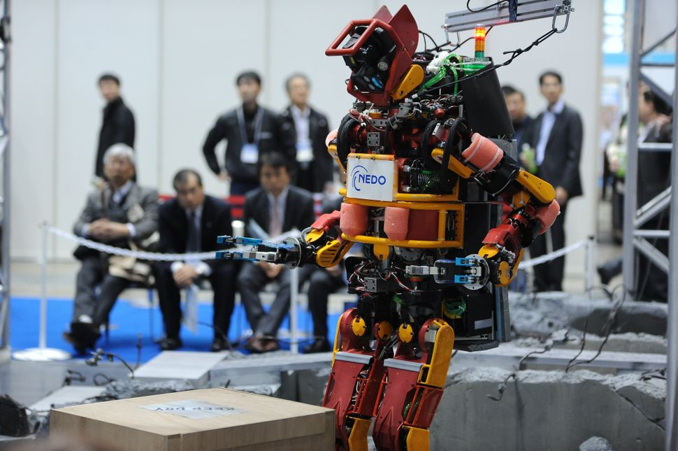 The New Energy and Industrial Technology Development Organisation (NEDO) presents ahumanoid robot for disaster relief.