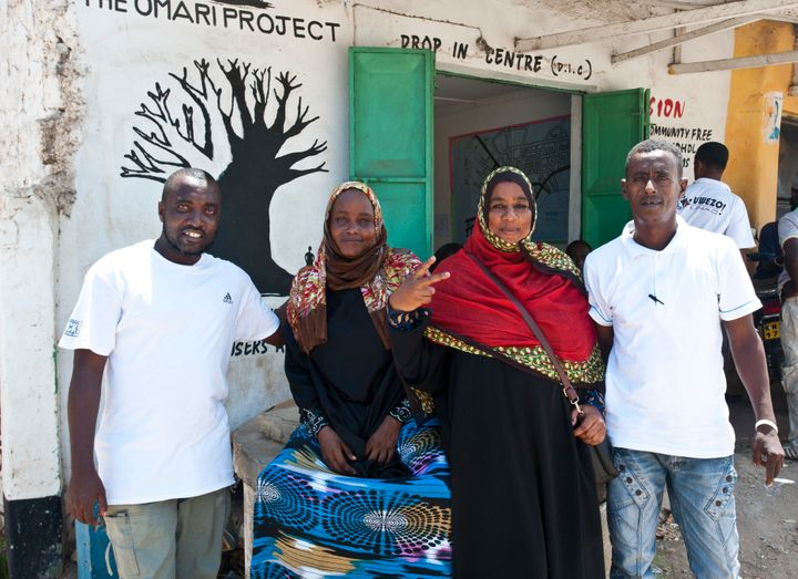 Bakari Hatib, Monica Wanjaa, Umi Khaled and Hassan Said Hassan all quit heroin and now work at The Omari Project helping othe