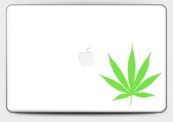 """Vinyl Weed Leaf Decal, $1.95 at <a href=""""https://www.etsy.com/listing/251839600/vinyl-weed-leaf-sticker-marijuana?ga_order=mo"""