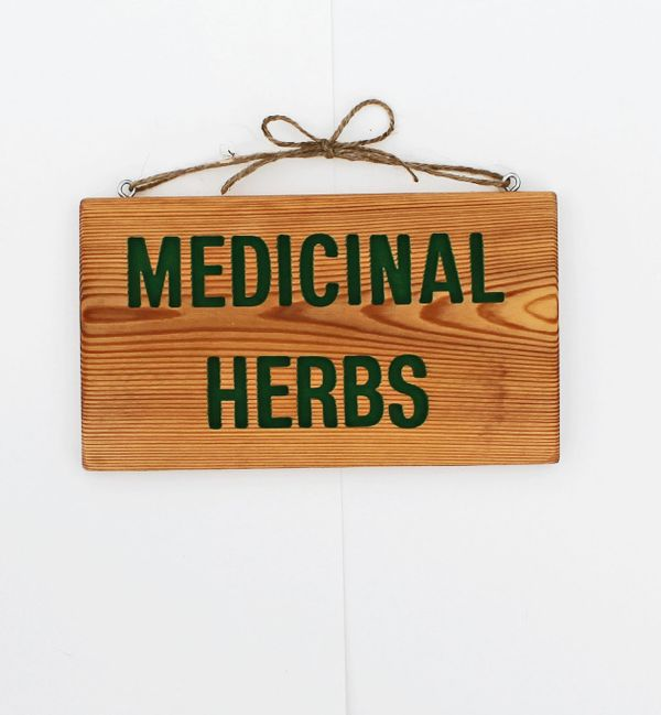 "Medicinal Herbs Garden Sign, $23 at <a href=""https://www.etsy.com/listing/114303723/medicinal-herbs-garden-sign-grow-room?ga_"