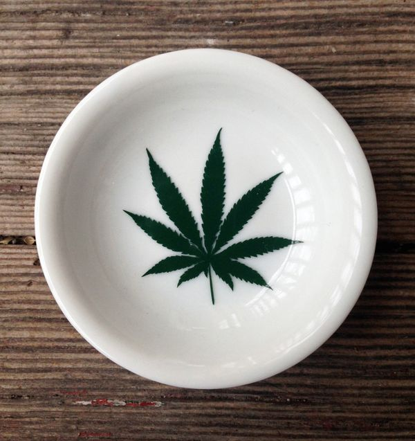 "Marijuana Leaf Trinket Dish, $6.50 at <a href=""https://www.etsy.com/listing/229070581/marijuana-leaf-trinket-dish-ring-holder"