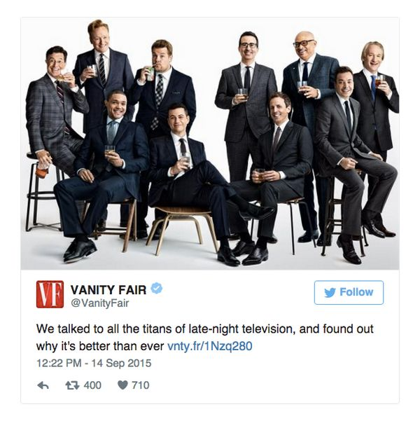 "To its credit, the magazine <a href=""https://www.huffpost.com/entry/vanity-fair-late-night-is-still-an-all-bros-club_55f6f953"