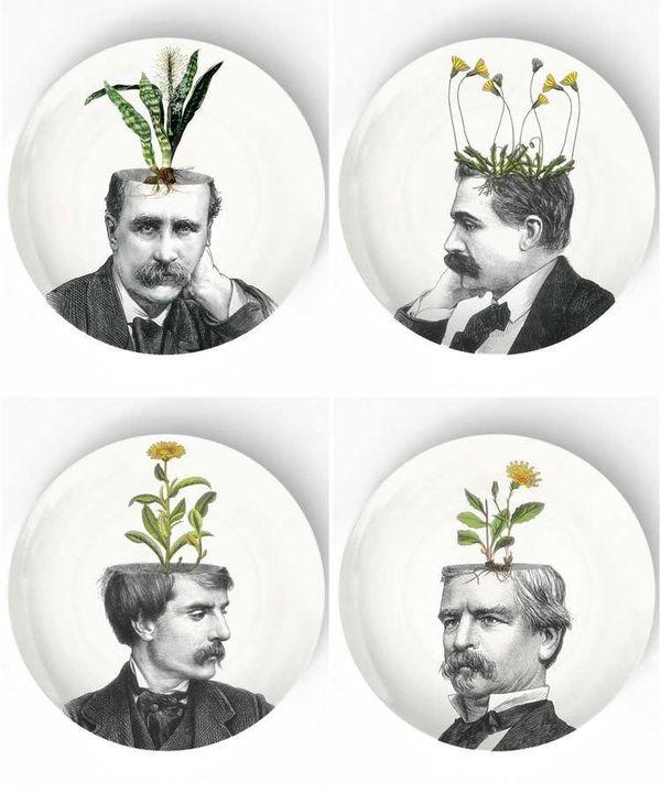 "Pothead Plates, $20 at <a href=""https://www.etsy.com/listing/118812233/dandelion-iv-pothead-melamine-plate?ga_order=most_rele"