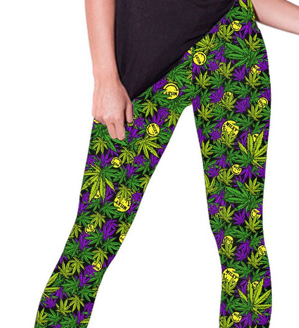 "Miley Cyrus Happy Hippie Leggings, $44.95 at <a href=""http://mileycyrus.fanfire.com/cgi-bin/WebObjects/Store.woa/wa/product?s"