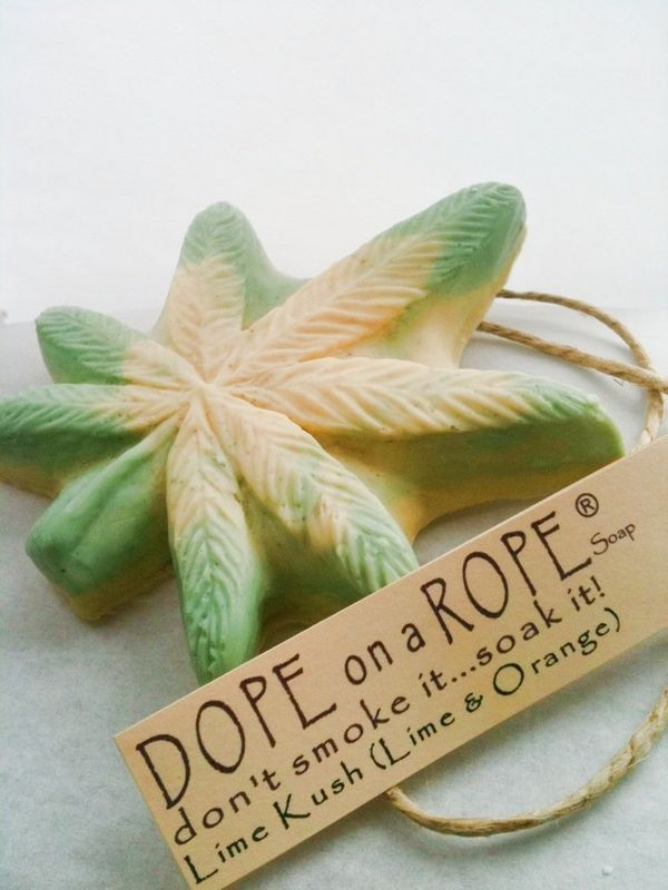 "Dope On A Rope Soap, $5.99 at <a href=""https://www.etsy.com/listing/66274867/dope-on-a-rope-soap-hemp-soap-vanilla?ref=shop_h"