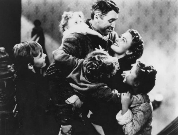 "I feel like we'd be remiss not to mention ""It's a Wonderful Life,"" which is probably the quintessential holiday film (right u"