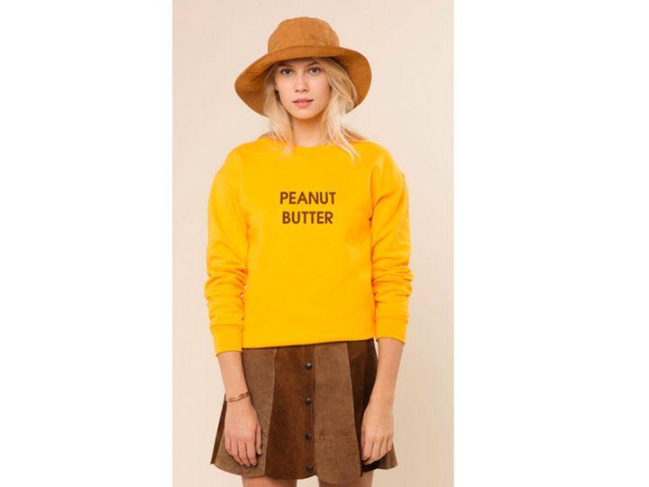 Kylie jenner 39 s peanut butter shirt tops our cheap celeb for Peanut butter t shirt dress