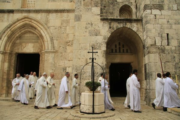 Feast of the Immaculate Conception at the Catholic Church of St. Anne in Jerusalem.