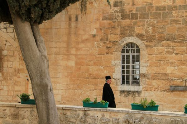 The Greek Orthodox Monastery of the Holy Cross in Jerusalem.