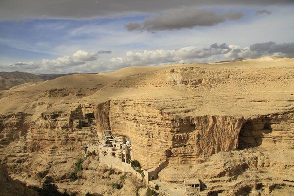 Greek Orthodox St. George Monastery in the Judean Desert.