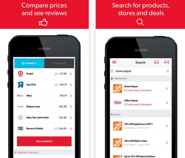 """Never overpay again &ndash; RedLaser helps you <strong>find the best prices, coupons, and deals</strong> for all your favori"