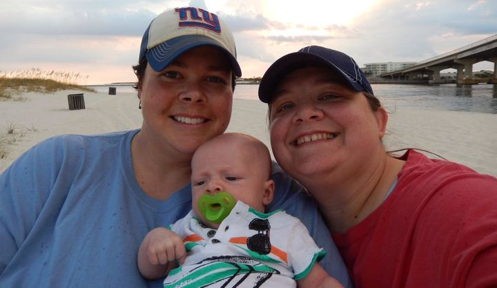 Tracee and Jennifer Gardner-Glazeboth wanted to be listed on their son's birth certificate in Arkansas.