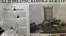 銃規制を訴えたニューヨークタイムズの1面社説、保守派の論客が銃弾を撃ち込んで笑いものに