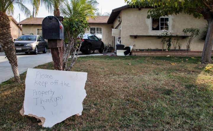 FBI agents executed a search warrant on a home on Tomlinson Avenue where resident Enrique Marquez is suspected of purchasing
