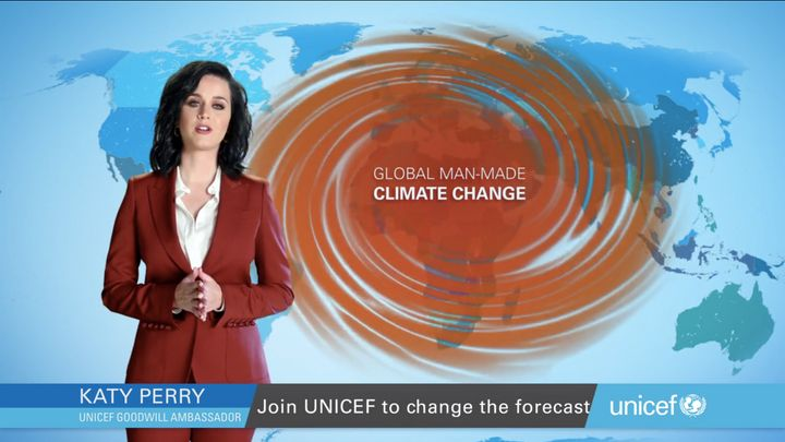 Unicef Goodwill Ambassador Katy Perry is shining a spotlight on global manmade climate change in a special report for the Uni