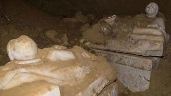 Etruscan tomb uncovered in Italy.