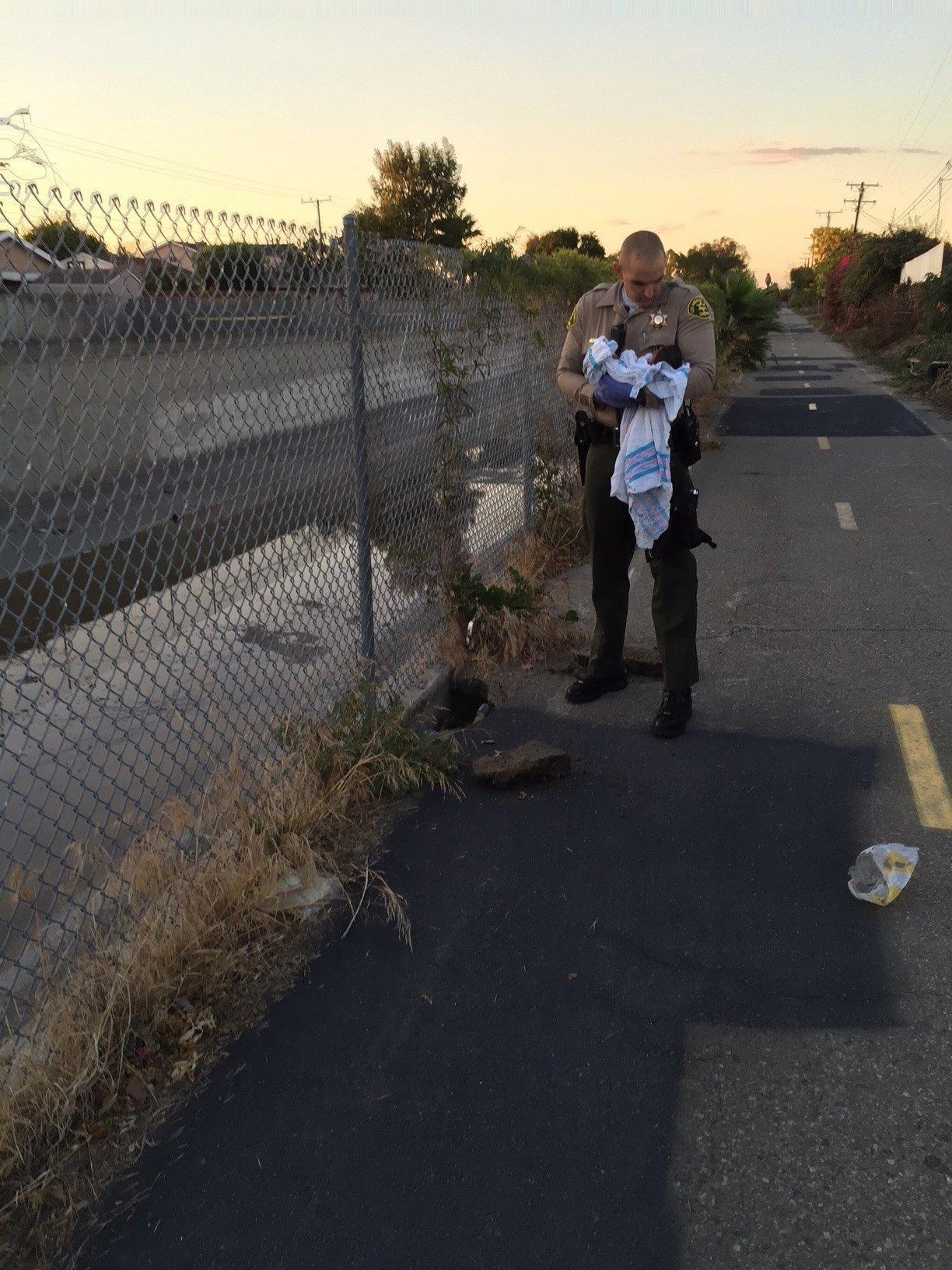 A newborn baby was found in Compton