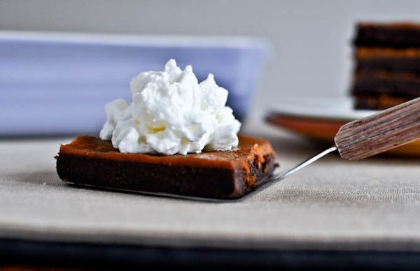 "<strong>Get the <a href=""http://www.howsweeteats.com/2011/11/pumpkin-pie-fudge-brownie-bars/"" target=""_blank"">Pumpkin Pie Fud"