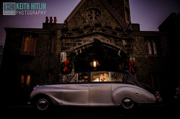 """Megan and Mike arrived in style to their Whitby Castle wedding this weekend in Rye, New York."" - Keith Hitlin"