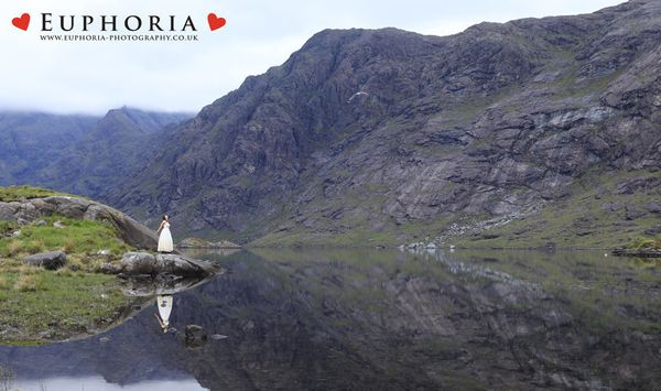 """Bego and her husband Jordi eloped in Loch Coruisk in Scotland -- one of Skye's most surreal and stunning locations. Alo"