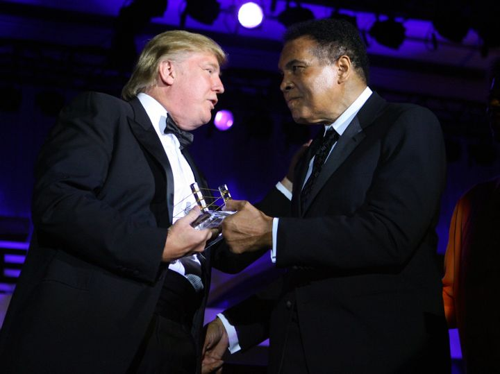 Donald Trump and Muhammad Ali at Ali's Celebrity Fight Night XIII in Phoenix in 2007.