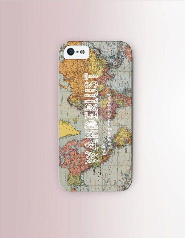 "Wanderlust iPhone Case, $17 at <a href=""https://www.etsy.com/listing/246479395/wanderlust-quote-phone-case-iphone-6?ga_order="
