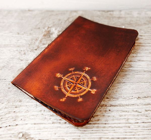 """Genuine Leather Passport Holder, $42.99 at <a href=""""https://www.etsy.com/listing/209474309/passport-cover-compass-graduation-"""
