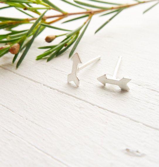 "Arrow Stud Earrings, $20 at <a href=""https://www.etsy.com/listing/182011132/tiny-arrow-stud-earrings-wanderlust?ga_order=most"