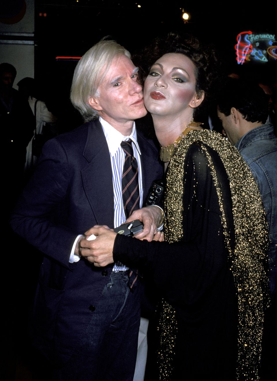 Andy Warhol and Holly Woodlawn (Photo by Ron Galella/WireImage)