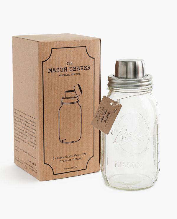 "Portable Mason Jar Cocktail Shaker, $29 at <a href=""https://www.jcrew.com/gift-guide/Mens/PRDOVR~E7034/E7034.jsp?color_name=m"