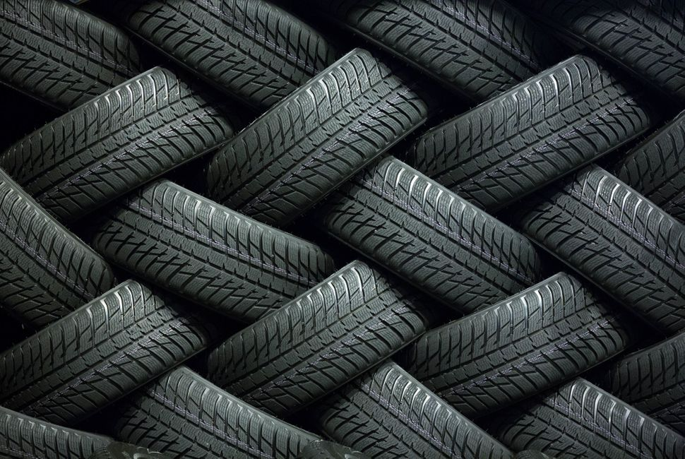 Finished tires sit in a storage area inside the Vsevolozhsk tire manufacturing plant, operated by Nokian Renkaat Oyj in Vsevo