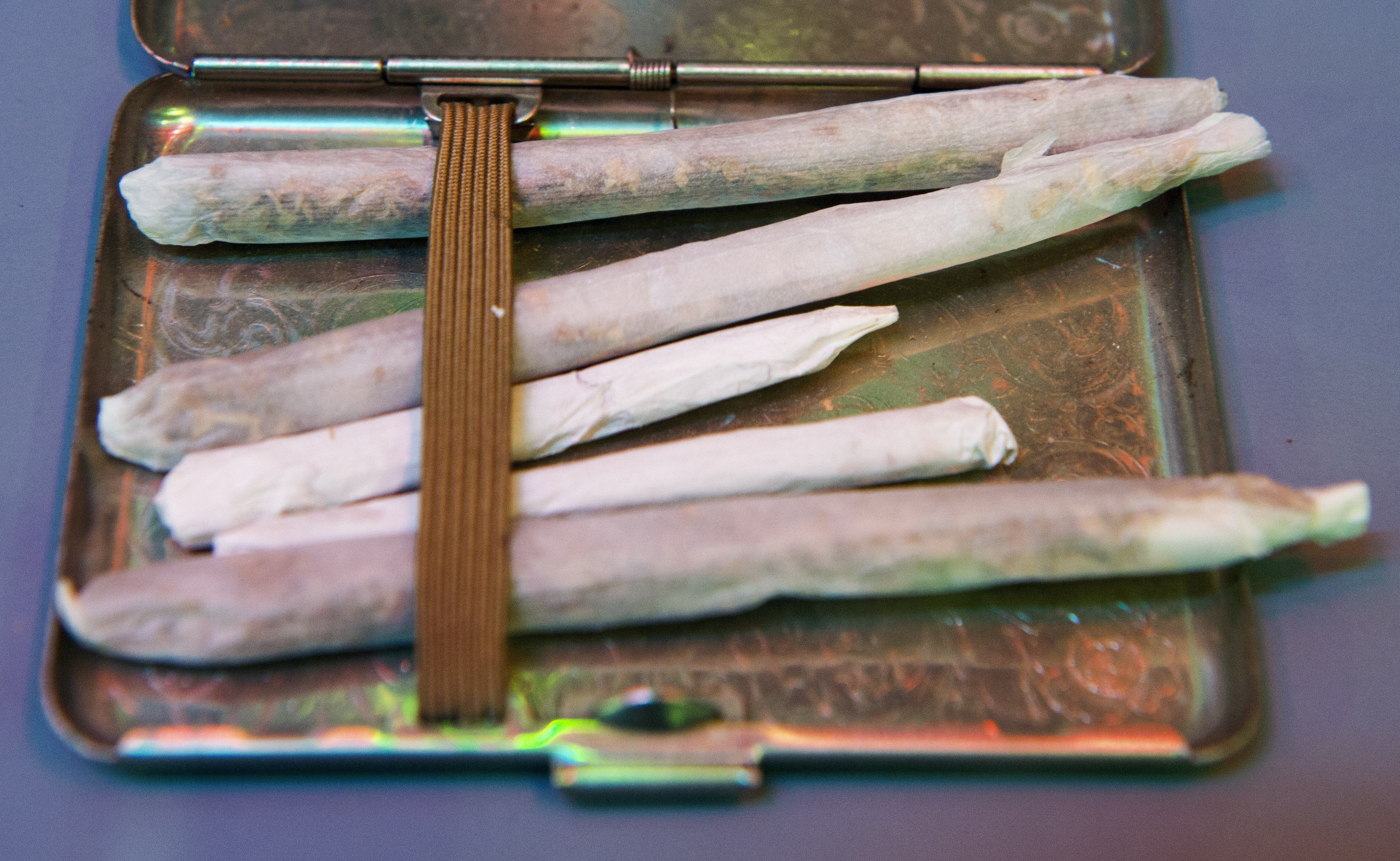 Marijuana cigarettes are on display at the Drug Enforcement Agency Museum (DEA) in Arlington, Virginia on August 25, 2015. The free museum is located next to the Pentagon and has a vast history of drug enforcement history.    AFP PHOTO/PAUL J. RICHARDS        (Photo credit should read PAUL J. RICHARDS/AFP/Getty Images)