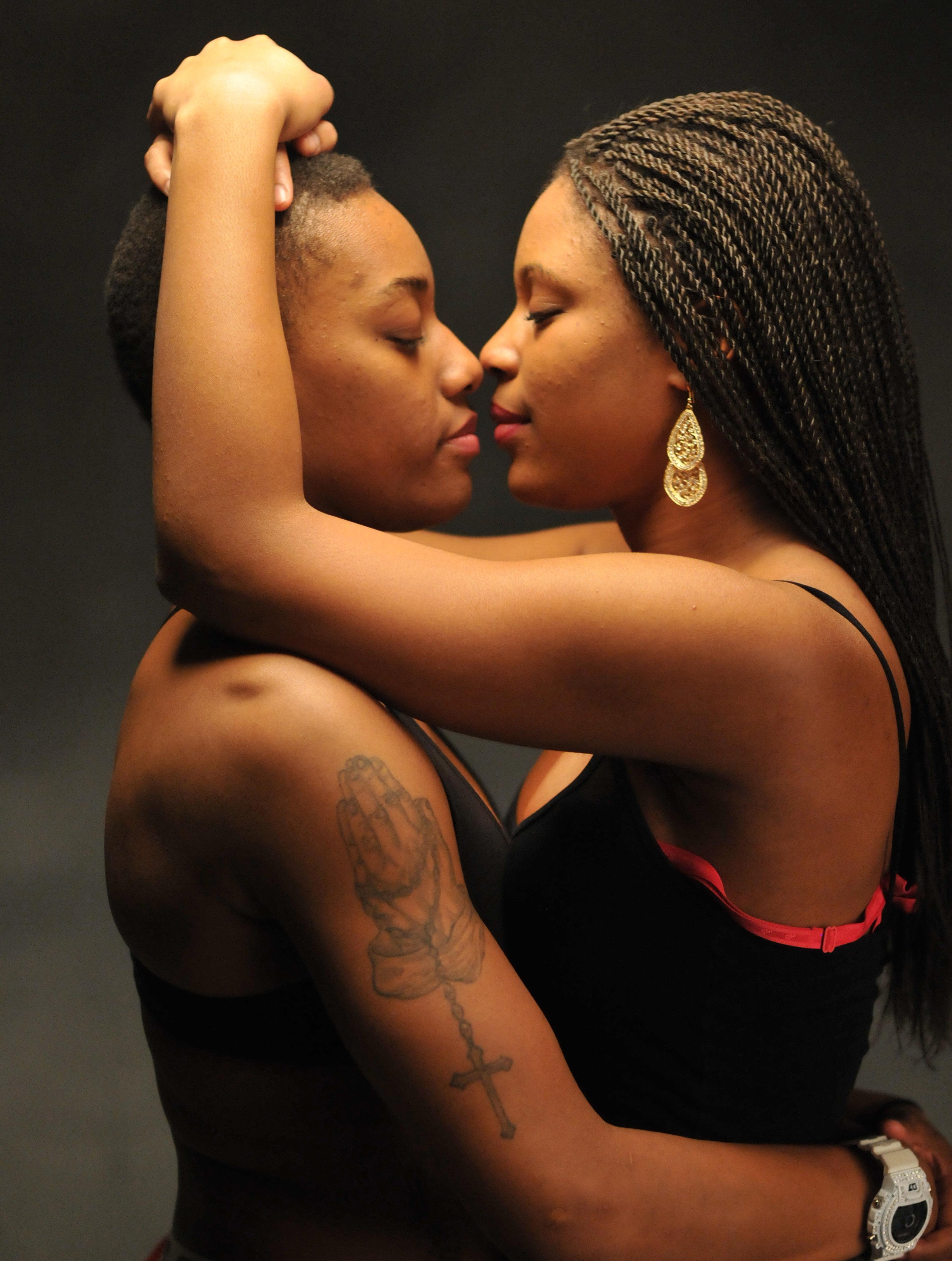 Lesbian intimate secret sex bed