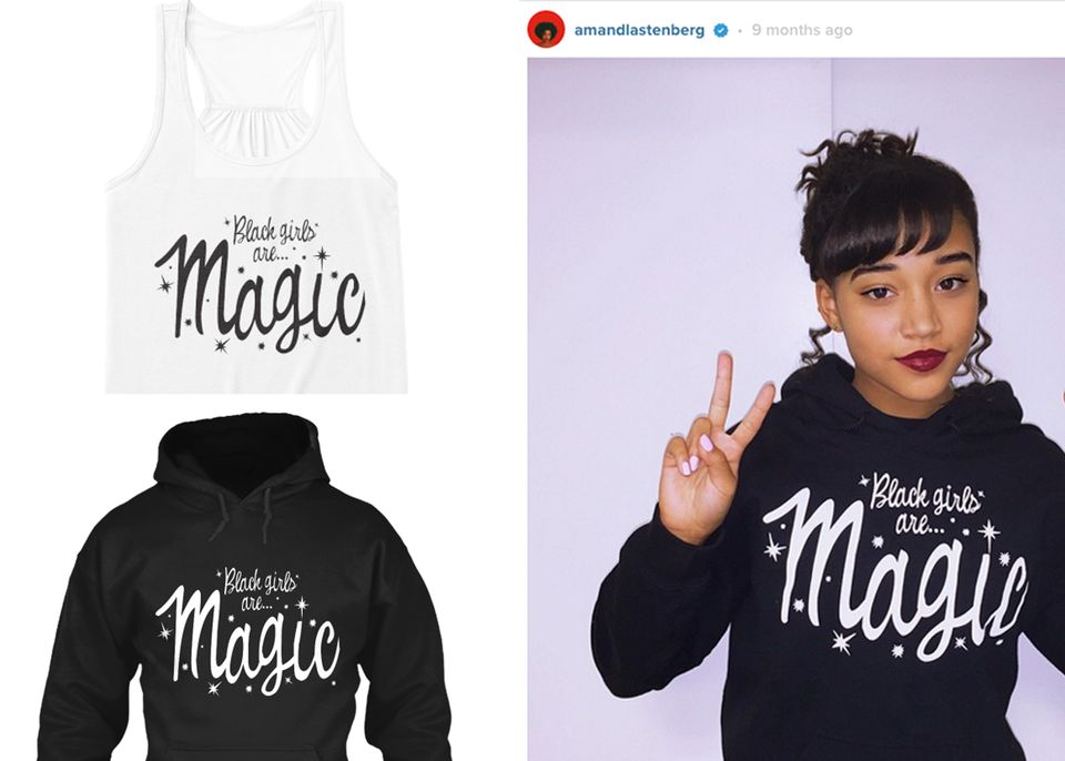 It's clear that black girls are magic,and now you can wear that magic on your sleeve. This gearis selling quickly