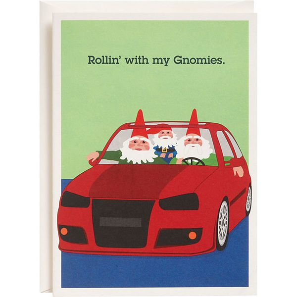 """Buy it <a href=""""http://www.papersource.com/item/Rollin-with-My-Gnomies-Holiday-Cards/3901_003/570037.html"""" target=""""_blank"""">he"""