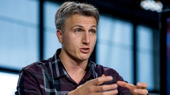 Lyndon Rive, co-founder and chief executive officer of SolarCity Corp., speaks during a Bloomberg West television interview in San Francisco, California, U.S., on Thursday, May 21, 2015. SolarCity Corp., the biggest U.S. residential solar installer, is turning to the bond market as the industry weans itself off a tax credit that's staged to wind down. Photographer: David Paul Morris/Bloomberg via Getty Images