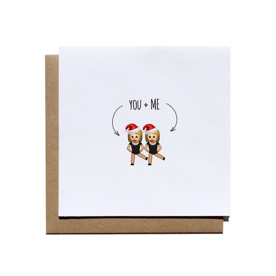 "Buy it <a href=""https://www.etsy.com/listing/250623341/you-and-me-santa-emoji-greeting-card?ga_order=most_relevant&ga_sea"