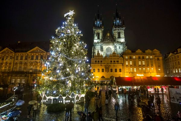 This dazzling tree is situated by the Christmas market in Old Town Square.