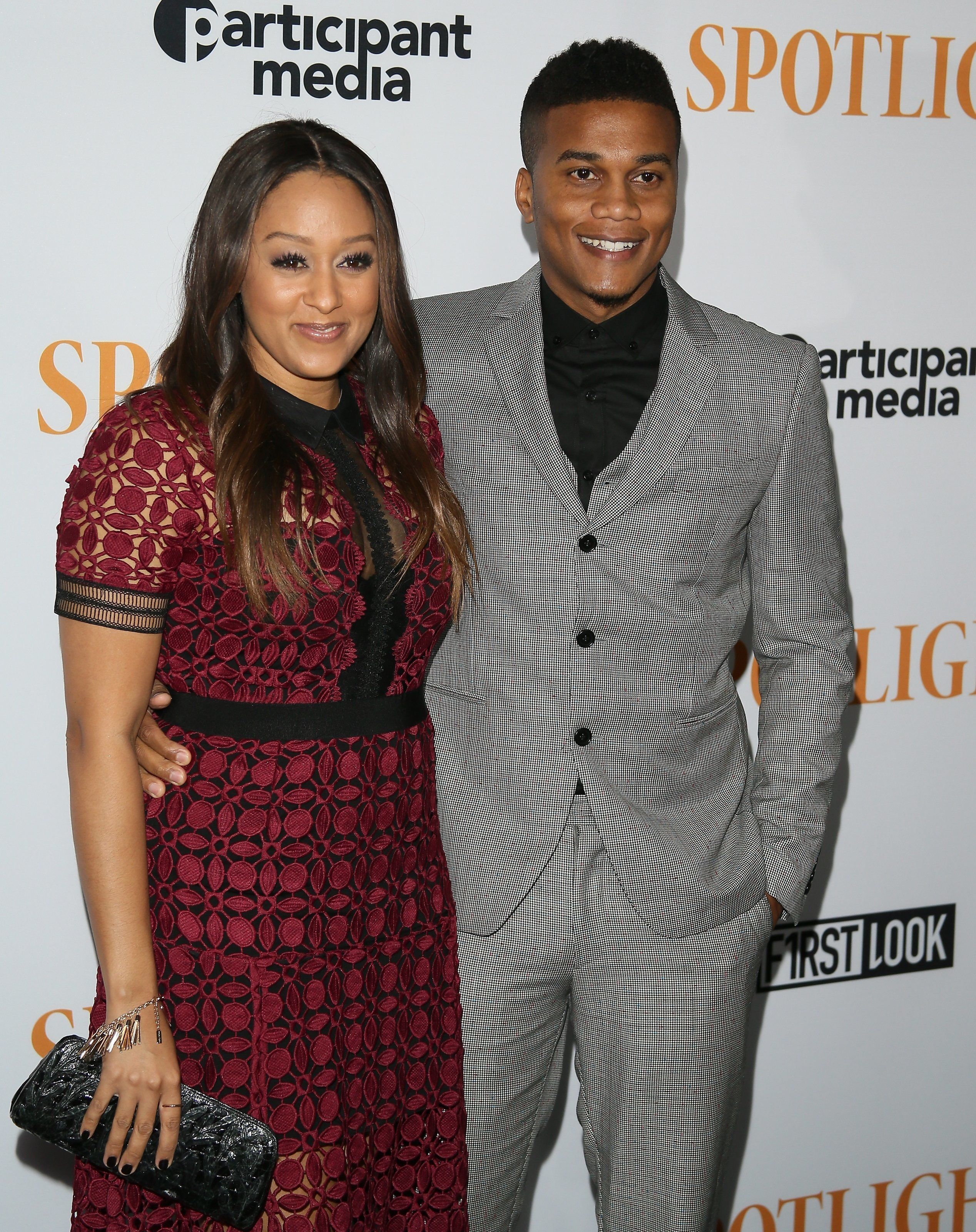 LOS ANGELES, CA - NOVEMBER 3: Tia Mowry and Cory Hardrict attend a special screening of Open Road Films' 'Spotlight' held at the DGA Theater on November 3, 2015 in Los Angeles, California.  (Photo by JB Lacroix/WireImage)