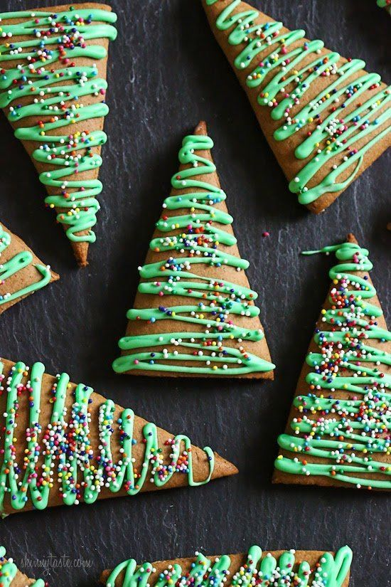 """<strong>Get the <a href=""""http://www.skinnytaste.com/2014/12/gingerbread-christmas-tree-cookies-and.html?m=1"""">Gingerbread Cook"""